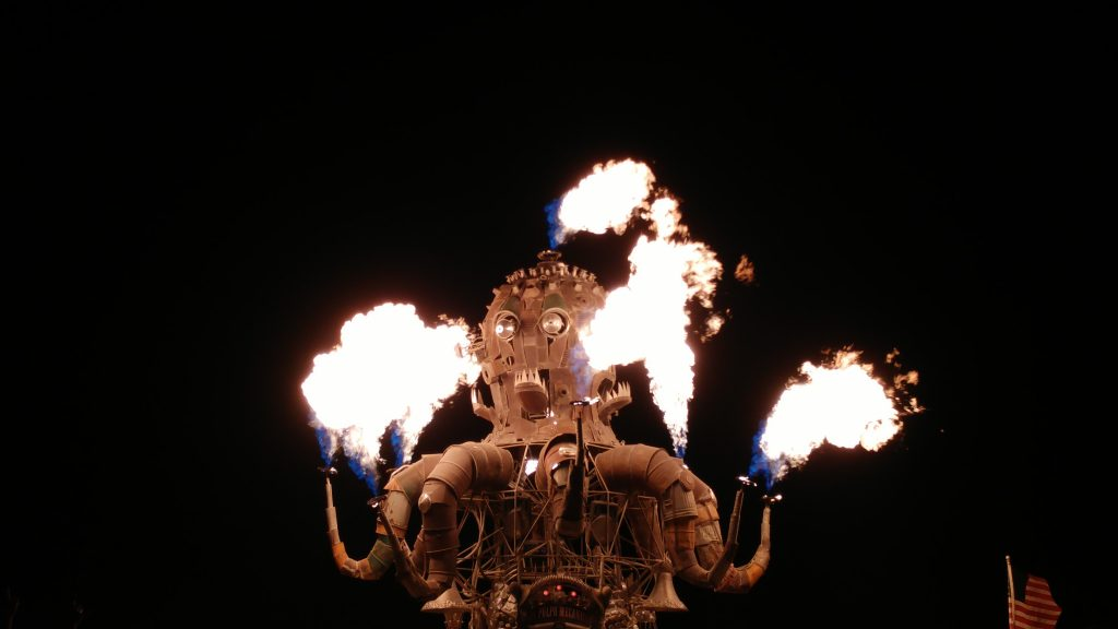 Burning Man 2016 - Flaming Octopus