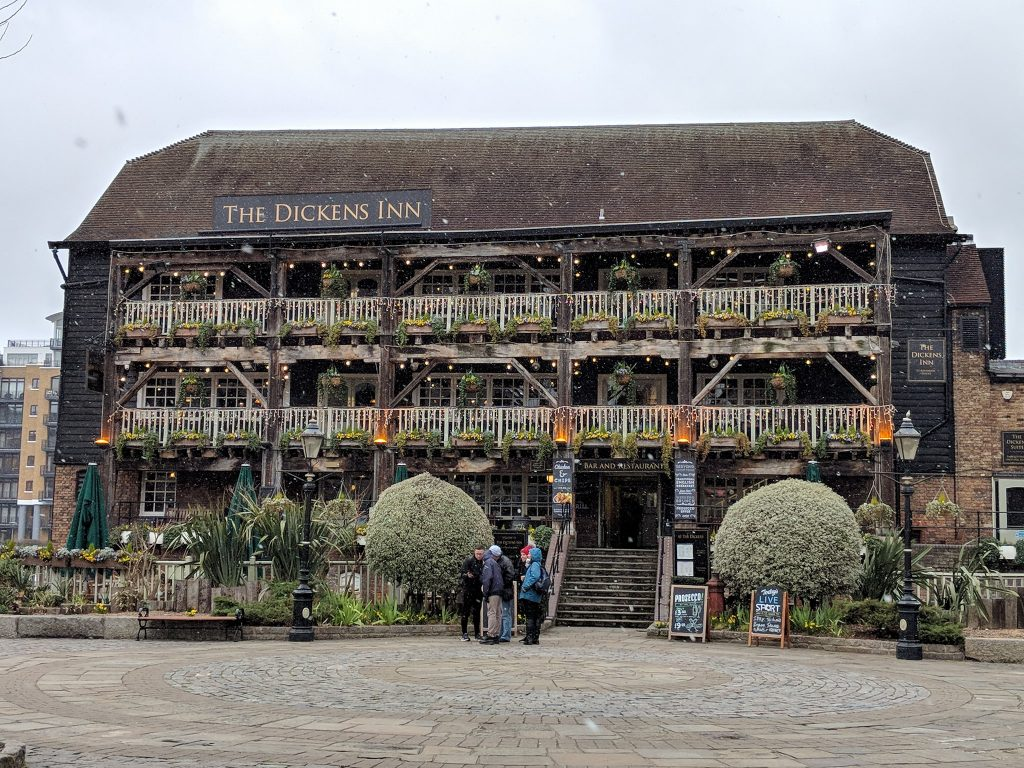 The Dickens Inn - one of my favourite London pubs